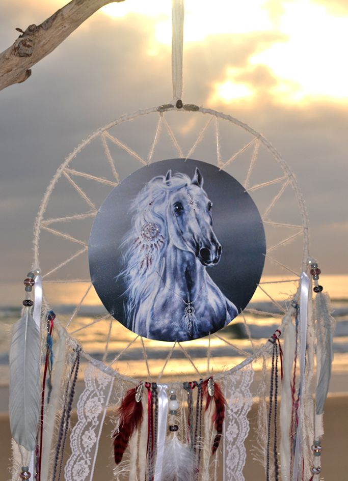 Spirit of the Horse, Animal Mandala, totem Animals, Dreamcatcher, By Heavenly Earth art
