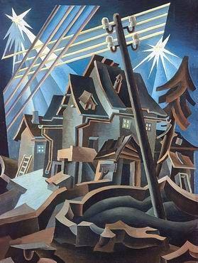 Notturno alpestre by Fortunato Depero