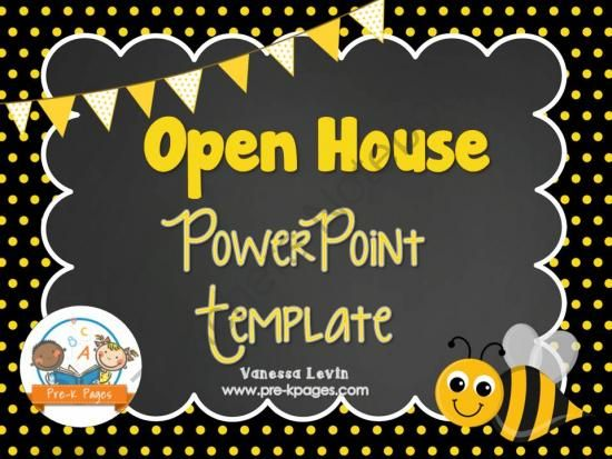 com 33 pages bee theme open house powerpoint template