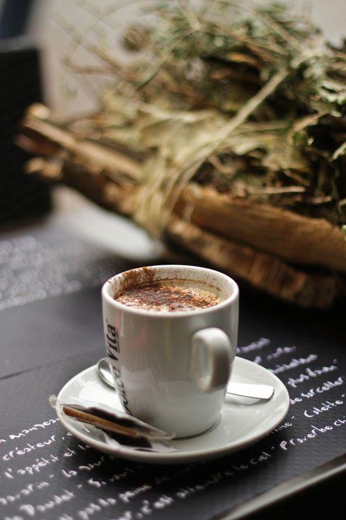 coffee | with cinnamon