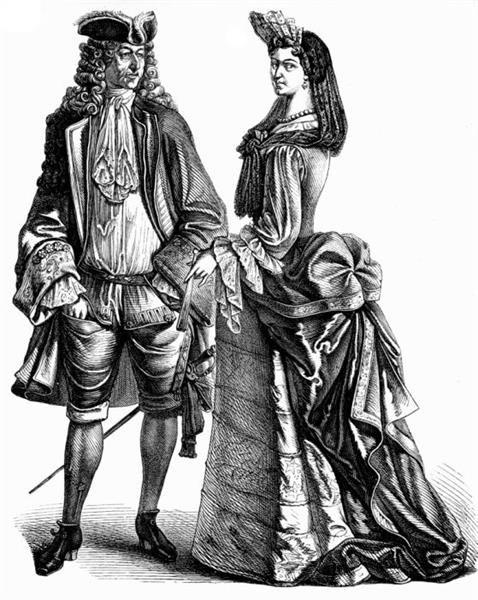 Костюм франции первой половины 18 века