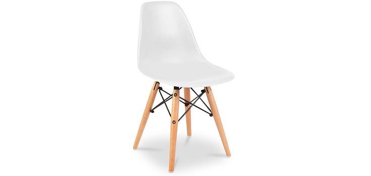 27,90€ PRIVATEFLOOR.COM Chaise Enfant DSW Charles Eames Style - Polypropylène Matt