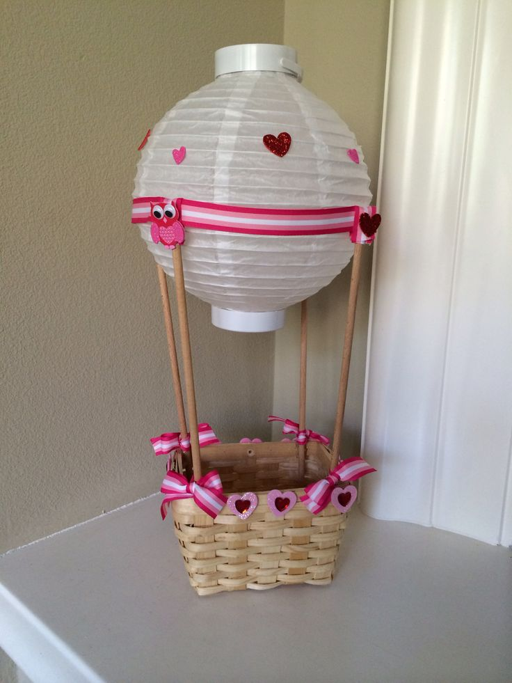 Hot air balloon Valentine Box