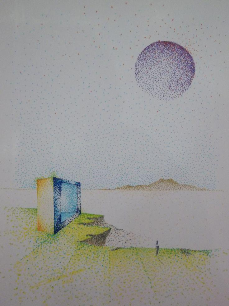 Realidad sobre un sueño, 2010 Rotuladores de Color sobre Papel 30x25 cm