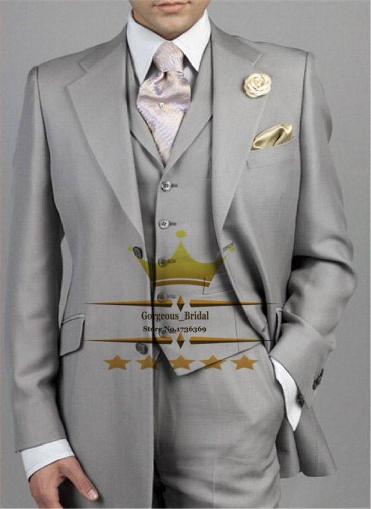 Find More Suits Information about Light Gray Mens Tuxedos Custom Made Wedding Suit For Men With Pants Designs Notch Lapel Two Buttons Jacket+Pants+Tie+Vest WY4405,High Quality Suits from Gorgeous_Bridal on Aliexpress.com