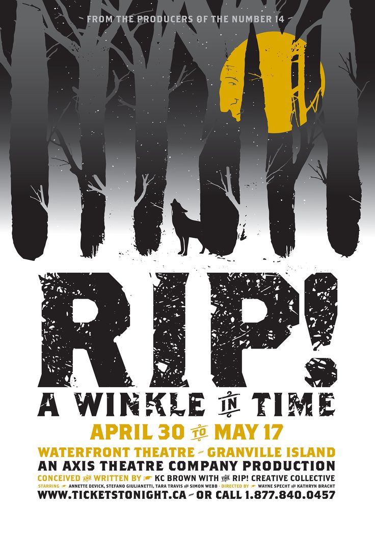 Poster for RIP! A Winkle in Time, a production by Axis Theatre.