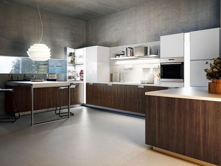 Smart Italian kitchen in white with wooden cabinets Sleek And Functional Italian Kitchen Exudes Radiant Charm