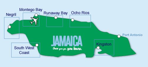 Jamaica Honeymoon Map | what if we just got married in Jamaica with a couple of close friends & had a reception/party in tennessee with our fams???