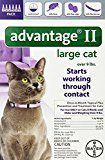 Bayer Advantage II Flea Control Treatment for Cats Large Cat Over 9-Pound 6-Month Pack