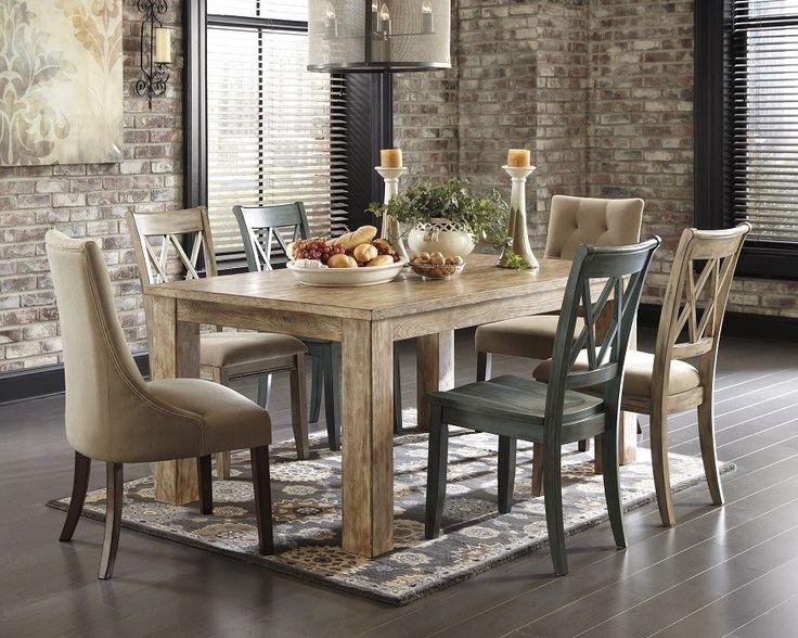 7 Piece Classic Rustic Dining Set – Multicolored