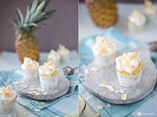 Ananas Kokos Cupcakes