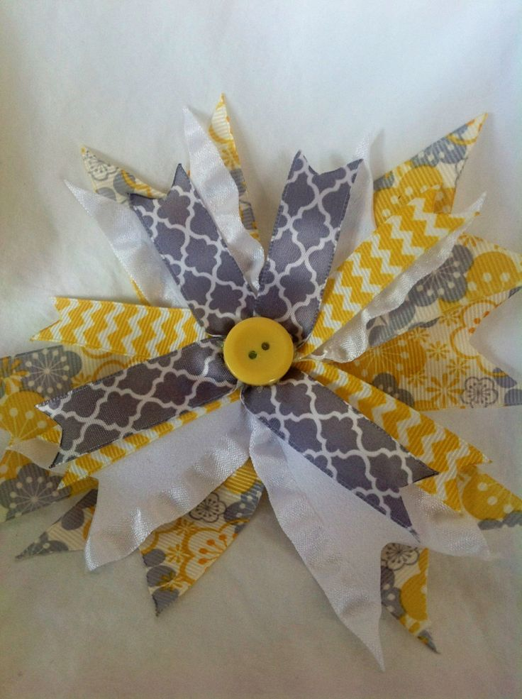 Homemade hair bow by CinderellaBowtique on Etsy, $3.00