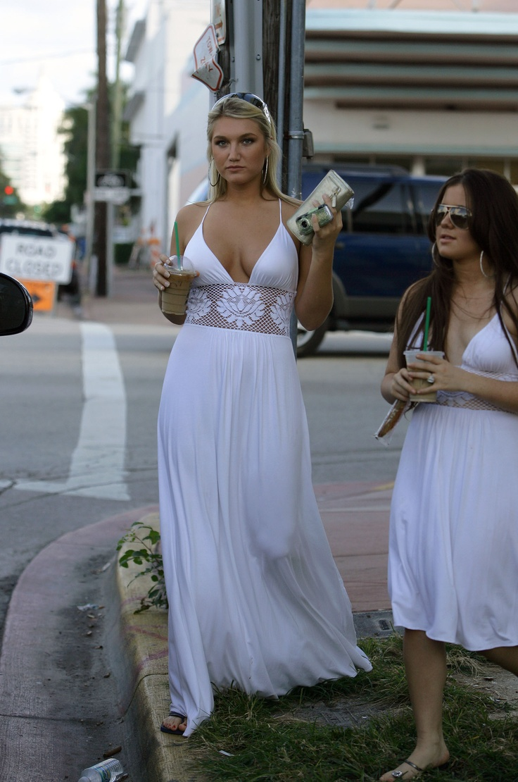 beach dress white brooke hogan