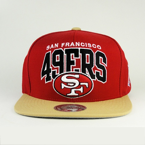 The 49ers snapback is a great blend of all the colors together. I'm liking this hat a lot also because of the rim of the hat. That color is just amazing.