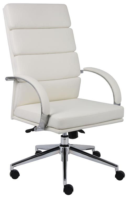 High Back Executive Chair White By BOSS Office Chairs   1 800 460