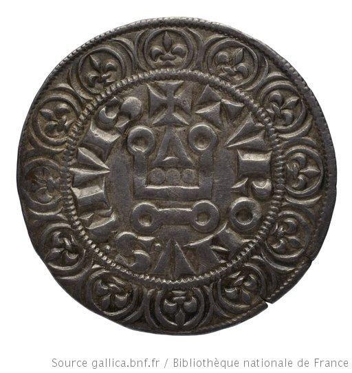 Monnaie. Gros tournois, [Royaume de France], Philippe III, revers