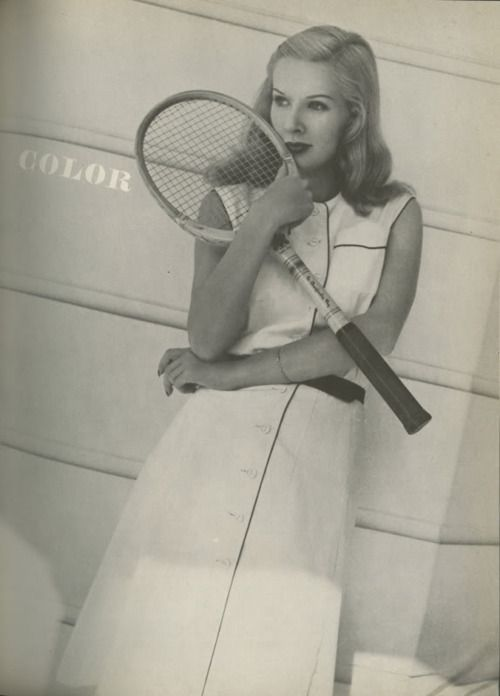 1944 Harpers Bazaar - White Tennis Dress