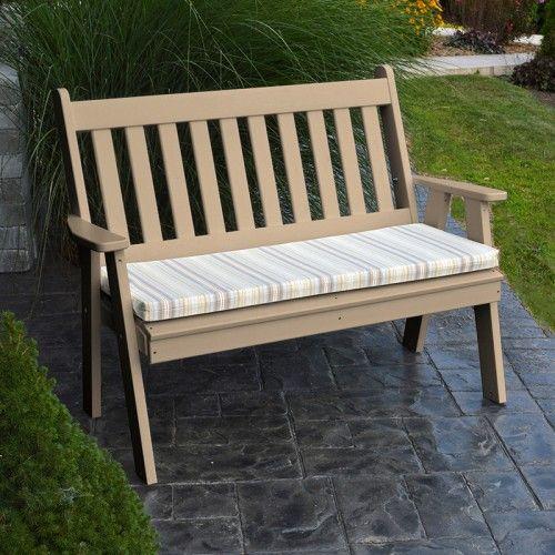 Highwood Lehigh Garden Bench 5ft Ad Benw1 Che In 2020 Plastic