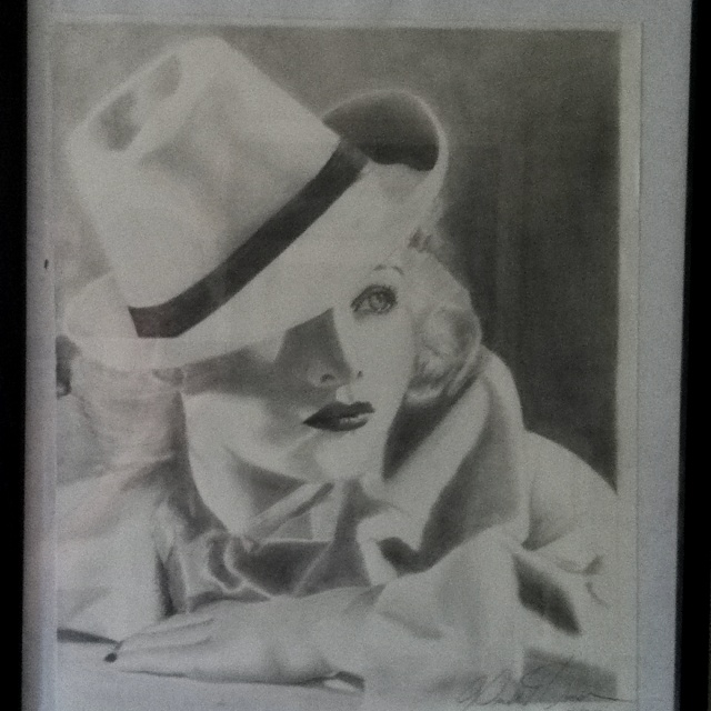 Drawing of Lucille Ball by April Homan