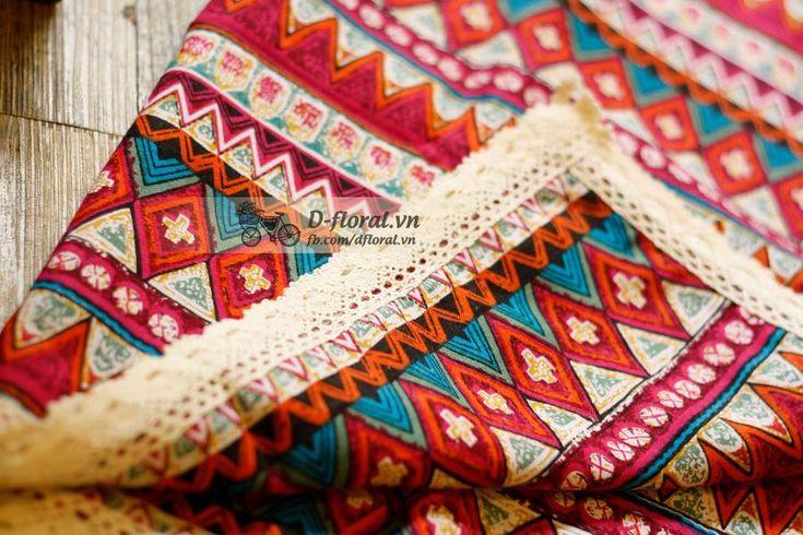 khăn bàn thổ cẩm vintage