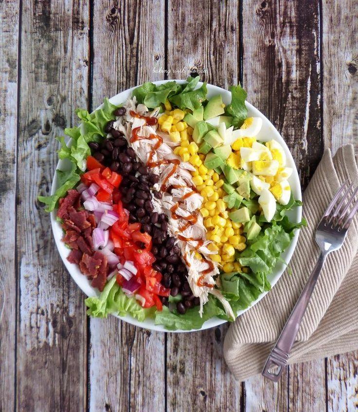 8. BBQ Chicken Cobb Salad #healthy #recipes http://greatist.com/health/healthy-single-serving-meals