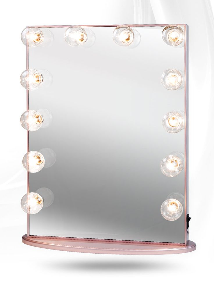 Impressions Vanity Hollywood Glow XL Lighted Vanity Mirror Rose Gold Lit
