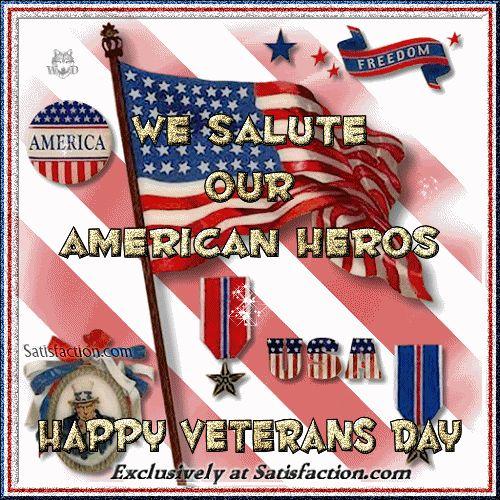 We Salute Our American Heros! Happy Veteran s Day soldiers military usa  america heroes honor salute veteran s day  17decd85b