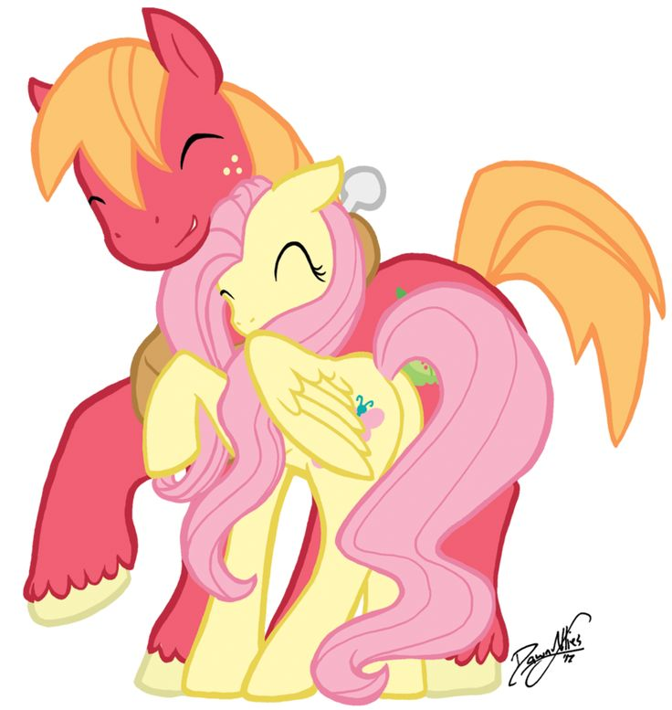 Fluttershy and Big Macintosh
