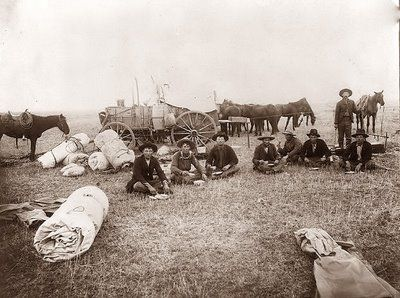 I love this old picture of Texas Cowboys in camp. The picture was taken in about 1902 on the XIT ranch in Texas.