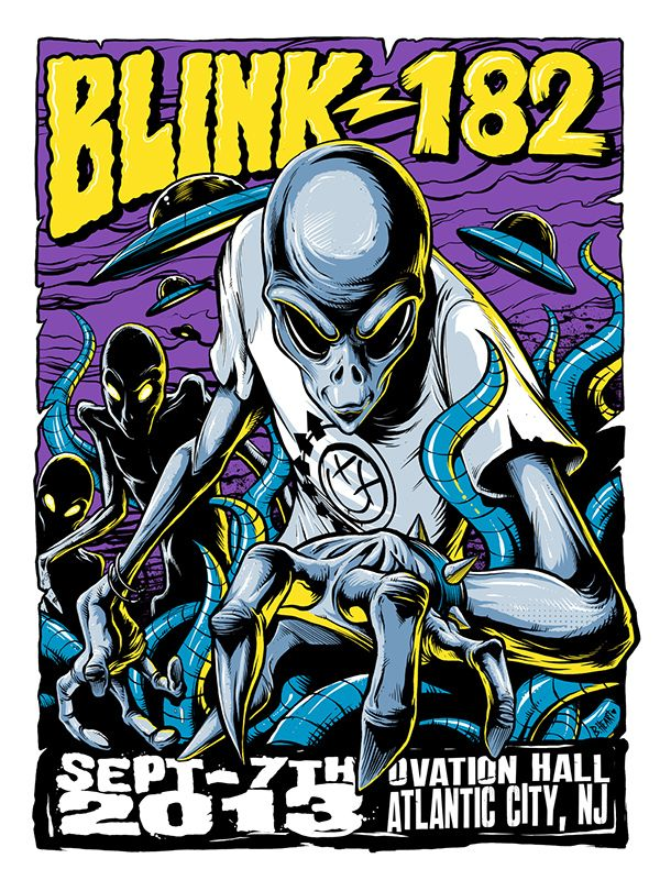 Blink-182 Atlantic City 2013 Tour Poster on Behance