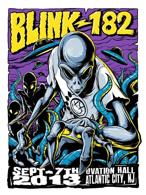 Blink-182 Atlantic City 2013 Tour Poster on Behance