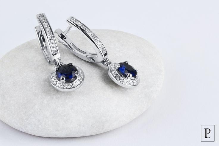 Потрясающие серьги из платины с сапфирами и бриллиантами от Platinum Lab – Ваш достойный выбор. The marvelous platinum earrings with sapphires and diamonds of Platinum Lab are the worthiest decision for you. #earrings #jewellery #серьги  #сапфир #jewelry #brilliant #platinum #PlatinumLab #present #cute #diamond #ювелирныеукрашения