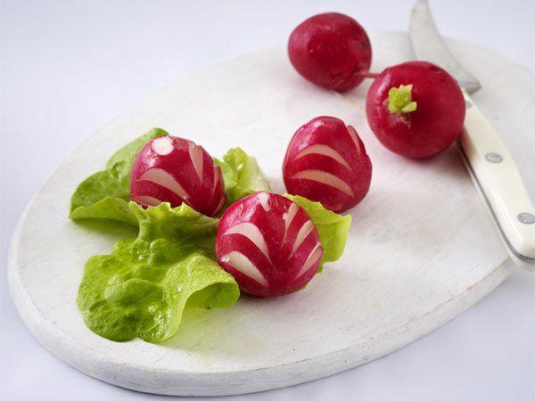 Gemüse schnitzen  Deko zum Vernaschen aus Tomaten, Möhren