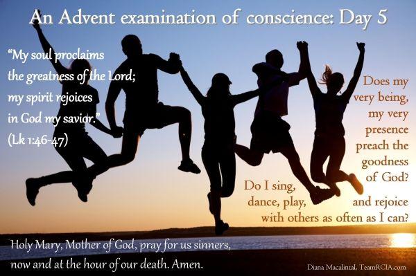 Advent Examination of Conscience: Day 5 TeamRCIA