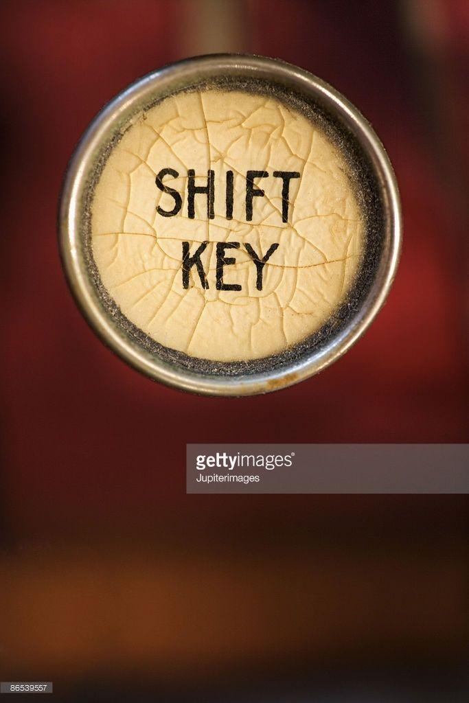 Stock Photo : Shift key on typewriter