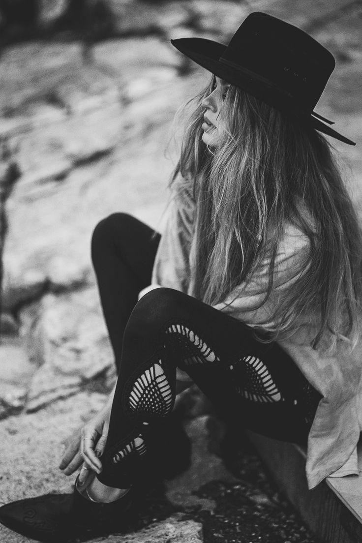 Catrin #spelldesign #spellandthegypsycollective #westernhat #bohemian #girl #longhair #cowgirl #cowboy #westernboots #desert #westernstyle #southwestern #suedeshirt © Anna  Malmberg