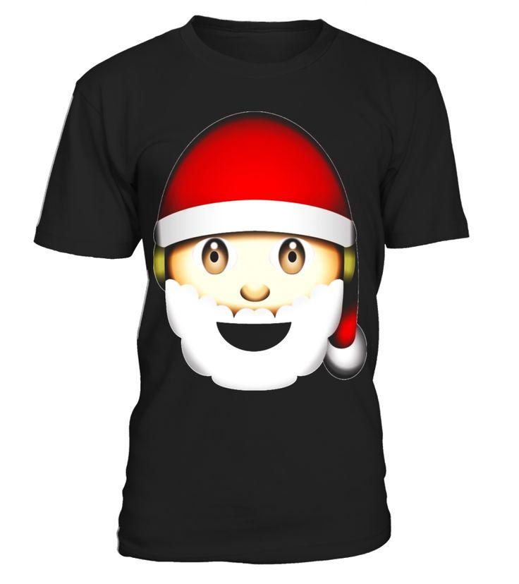 Happy Santa Hat White Beard Head Holiday Emoji T-Shirt - Limited Edition  Funny Happy T-shirt, Best Happy T-shirt