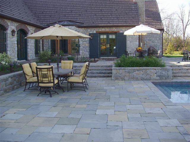 Slate Stone Pavers | Patio, Paver patio, Sunken patio