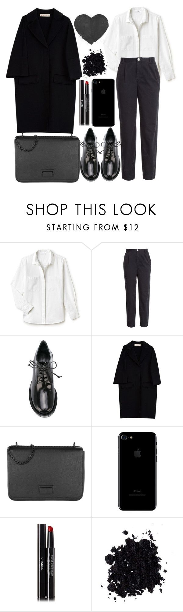 """""""Marc by Marc Jacobs Cotton Chinos"""" by faesadanparkaia ❤ liked on Polyvore featuring Lacoste, Marc by Marc Jacobs, Simone Rocha, Marni, Etienne Aigner and Chanel"""