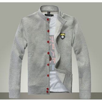 Mens Fashion Buttons Thick Windproof Warm Male Hoodies - US$15.55