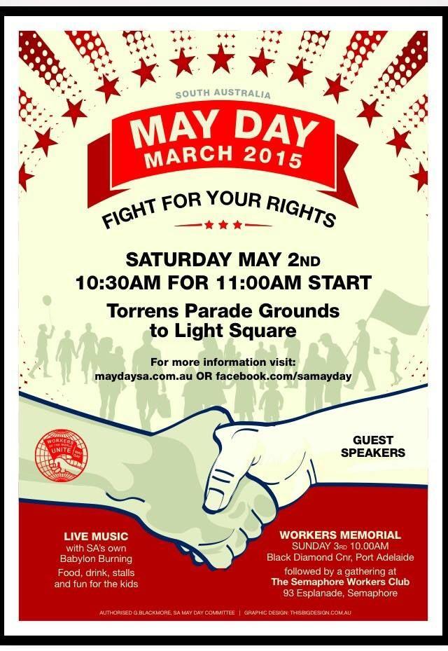 South Australia May Day poster 2015 | May Day