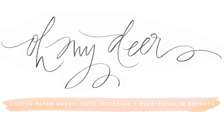 Lettering from Oh My Deer: Cards Ideas, Cool Fonts, Logos Design, Hands Letters, Handwritten Logos, Deer Blog, Watercolor Cards, Blog Headers, Hand Lettering