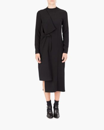 Malloni Asymmetrical dress with overlapped fabric panels