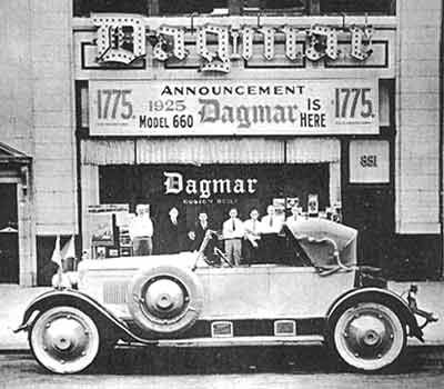 Dagmar. This was a hand assembled sports car that was build by hand, and built to order. They were highly praised in their day for the quality and craftsmanship. However, lack of sales, service centers, and parts made these extinct as well.  You'll never find a color photo of one.