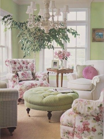 (via 4 Chairs)  gorgeous, two of my fav colours pink and green