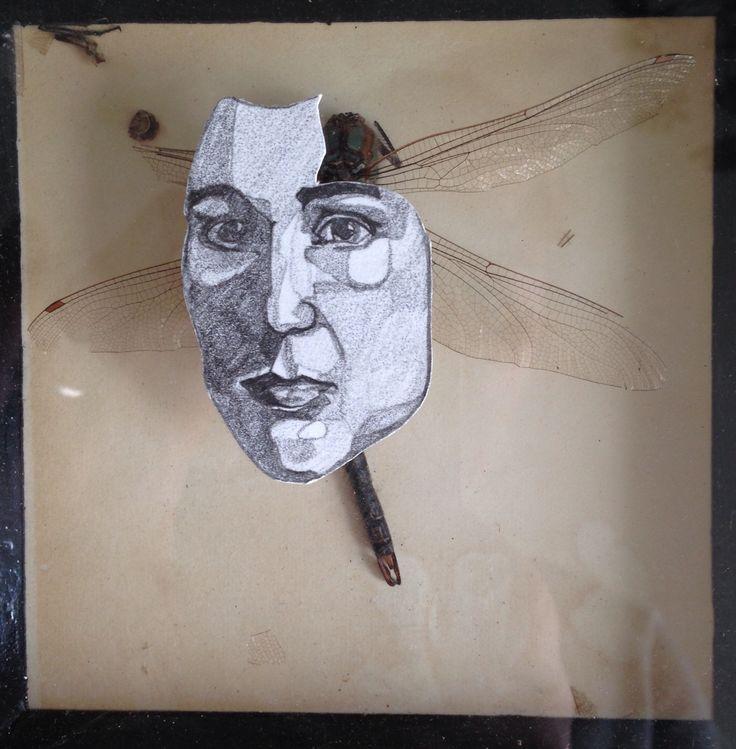 Continuing transforming old in new (#dragonfly#drawing#contemporaryart#art#kunst#libelle#tekenkunst#tekening)