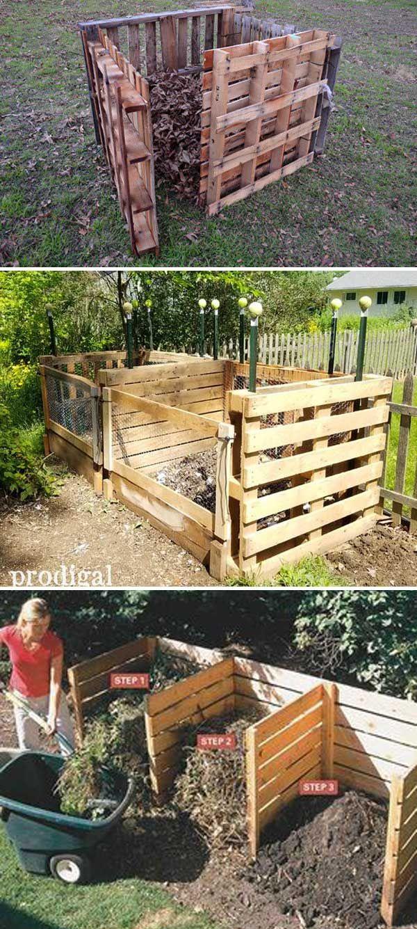 Build A Pallet Compost Bin