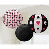 Place Your Bets Round Printed Lanterns Pkt3 $22.95 A240094