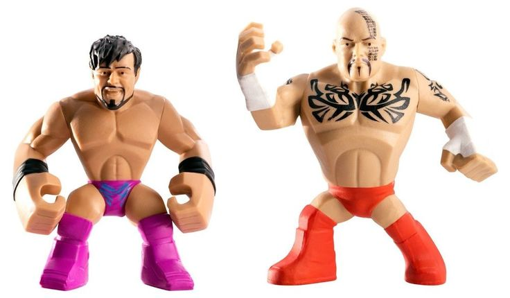 WWE Rumblers Tensai and Justin Gabriel Action Figure, 2-Pack  #Mattel