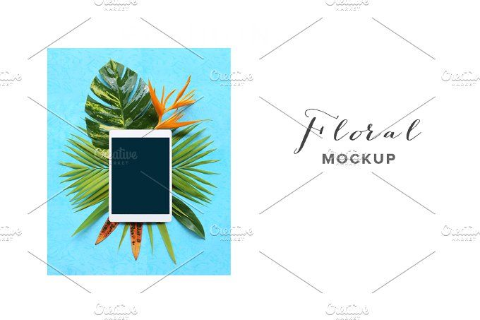 flower mockup by Trefilova Anna on @creativemarket